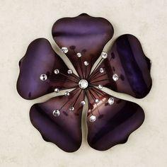 Shimmering Gem Purple Flower Wall Art