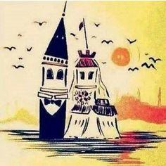 Galata ve Kız Kulesi, İstanbul'da bir aşk hikayesi :)