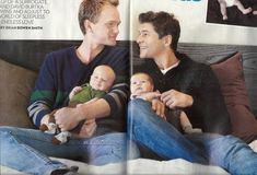 Doting dads Neil Patrick Harris and David Burtka with twins Gideon Scott and Harper Grace. Beautiful names for the children, beautiful family. David Burtka, Cute Family, Beautiful Family, Beautiful People, Modern Family, Pretty People, Daddy, Neil Patrick Harris, How I Met Your Mother