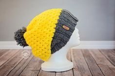 Slouchy Beanie - free baby to adult crochet pattern by Phanessa Fong.
