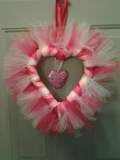 Tulle Wreath for Valentine's Day