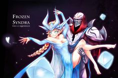 Anime picture frozen (disney) league of legends disney elsa (frozen) syndra zed (league of legends) long hair blush highres blue eyes light erotic blonde hair simple background smile braid (braids) legs black background single braid cosplay 336027 en Lol League Of Legends, Zed Wallpaper Hd, Wallpapers, Zed Cosplay, Zed Lol, Armor Concept, Simple Backgrounds, Disney And Dreamworks, Disney Frozen