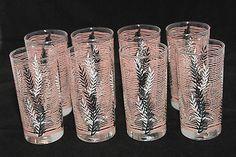 Pink Black White VINTAGE DRINKING GLASSES 5.5