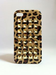 Studded Leopard iPhone Case