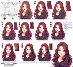 """ART In G 자료 봇 on Twitter: """"헤어 채색 튜토리얼 #머리 #머리카락 #헤어 #채색 #튜토리얼 #자료 #아트인지 #Hair #Coloring #Tutorial #Reference #ArtInG https://t.co/GggnRSgrFt"""""""