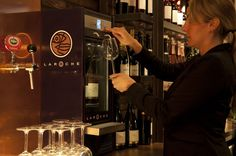 Modular wine dispenser made for one of the importers of the famous French Laroche brand