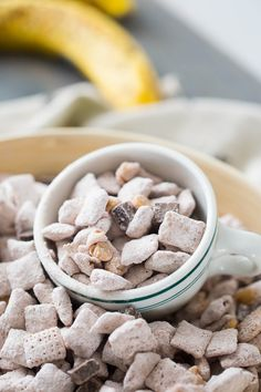 These chunky monkey muddy buddies are not only fun to eat, but they are simple to make!