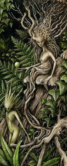 Nature:  #Nature #Spirits, Creative Illustrations by Marc Potts.