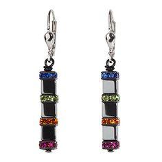 Hematite Cube Earrings, Multicolored,, Coeur De Lion Jewelry $65, sale $52