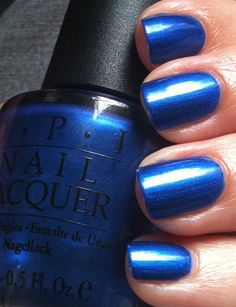 OPI Blue My Mind. Lovely fun blue polish.