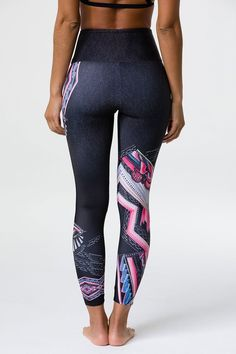 ONZIE's capri pant just got a little high waisted! The High Rise Midi features a slimming high waist band that covers the hip area and lands just below the belly button. Funky Leggings, Workout Leggings, Women's Leggings, Rebel, Print Design, Cool Designs, Capri Pants, Third Eye, Collection