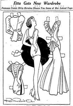 Etta Kett paper doll from 3-25-36.