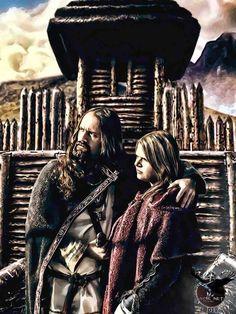Viking couple by thecasperart on DeviantArt