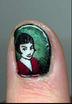 adorable miniature film scene  manicures by Maya Pixelskaya