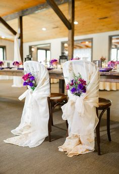 Chair covers, vintage shawls, antique chic // Priscilla Thomas Photography