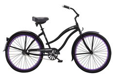 """Micargi Bicycles Women's Stealth 26"""" Coaster Brake Single-Sp with Fenders and 36H Purple Alloy Rims Beach Cruiser Bike #snowboard #snowboards #outdoorgear"""
