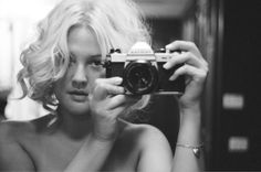 Drew Barrymore: self portrait from approximately 1993, as seen inside Drew's book Wildflower.