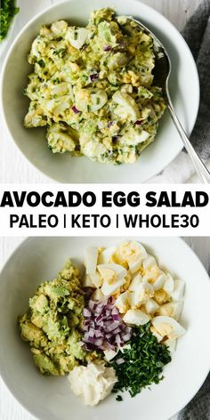 avocado egg salad takes your classic egg salad recipe and adds healthy avoc. - Whole 30 Recipes -This avocado egg salad takes your classic egg salad recipe and adds healthy avoc. - Whole 30 Recipes - Classic Egg Salad Recipe, Classic Recipe, Paleo Menu, Paleo Keto Recipes, Carb Free Meals, Easy Healthy Meals, Easy Meals, Candida Recipes, Healthy Meal Prep