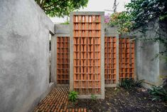 Completed in 2016 in Coyoacán, Mexico. Images by Moritz Bernoully. The project is situated in in the Coyoacán neighborhood of Mexico City. It consists of the modification and intervention of a house built in the. Brick Architecture, Contemporary Architecture, Architecture Details, Landscape Architecture, Brick Facade, Facade House, Brick Wall, Brick Masonry, Brick Design