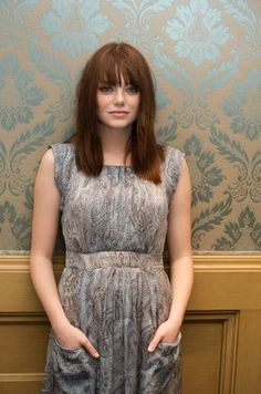 Emma Stone - bangs with straight hair