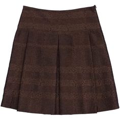 Pre-owned Burberry Bronze & Black Metallic Pleated Skirt (2.185 ARS) ❤ liked on Polyvore featuring skirts, burberry, metallic pleated skirt, metallic skirt, burberry skirt and bronze skirt