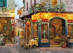 Si te gustan los puzzles y el arte, te hechizará este puzzle de terraza antigua... Marca Clementoni, 500 piezas
