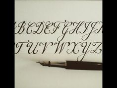 how to write in copperplate - easy version for beginners (fountain pen) - YouTube