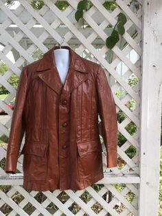 Vintage JCPENNYs  70s leather mens  brown  by 3GenerationCuration