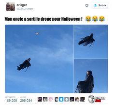 Mon oncle a sorti le drone pour Halloween... - Be-troll - vidéos humour, actualité insolite