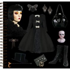 A fashion look from November 2012 featuring handbag purse, crystal jewelry and teardrop earrings. Browse and shop related looks. Gyaru, Journal Pages, Teardrop Earrings, Goth, Fashion Looks, Costumes, Polyvore, Shopping, Style