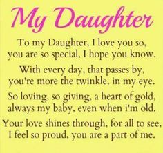 26 Best mother to daughter poems images in 2017 | Thoughts, Messages