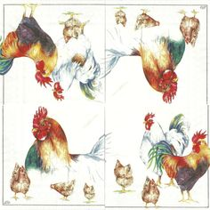 PAPERS-FRENCH COUNTRY ROOSTER Serwetka - Kury i koguty 3