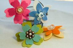 Flower combs, make a variety for different ages.