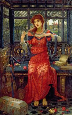 Oh Swallow, Swallow (1894) - John Melhuish Strudwick (1849 -1937)  by Victorian British Painting