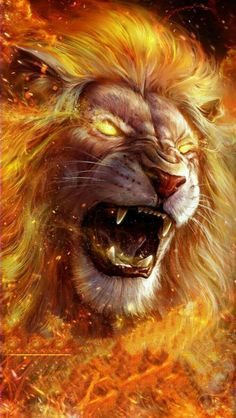 Lion on Fire iPhone Wallpaper - iPhone Wallpapers