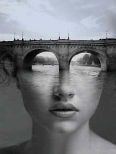 Mesmerizing Animated GIFs by Blind Artist George Redhawk - Digital Art Mix Exposition Photo, Double Exposition, Photomontage, Creative Photography, Art Photography, Simon And Garfunkel, Blind Artist, Photo Humour, Art Du Monde