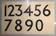 Edward Johnston's figures for his London Underground typeface.