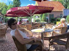 Cheryl at the Cafe de Hospes