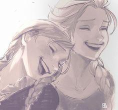 Anna and Elsa (Frozen)