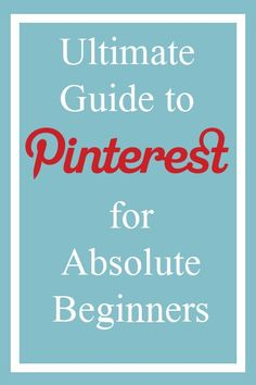 How to Use Pinterest for Beginners Later will be telling how to organize boards.