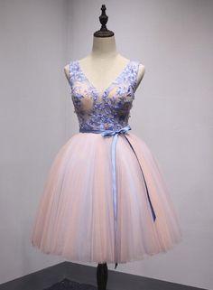 44cbce95ff V-neckline Long Prom Dress 2019