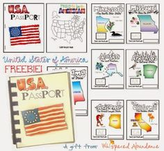 Mud Puddle Soup: USA Passport Activity Booklet {Free Printable}-- we'll be using these on our upcoming summer road trips! Many parks and visitor centers have stamps they'll stamp into a booklet like this for kiddos. Social Studies Activities, Teaching Social Studies, Learning Activities, Kids Learning, Summer Activities, Travel Activities, Educational Activities, Teaching Ideas, Us Geography