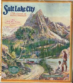 Park City Utah, Salt Lake City Utah, Cottonwood Canyon, Travel Ads, The Good Old Days, Vintage Postcards, America, History, Honey