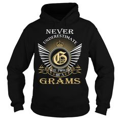 Never Underestimate The Power of a GRAMS - Last Name, Surname T-Shirt