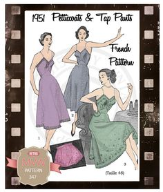 1950s Petticoat and Panties French  Sewing by MyVintageWish