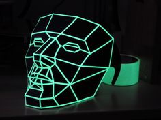 Low poly mask in the dark