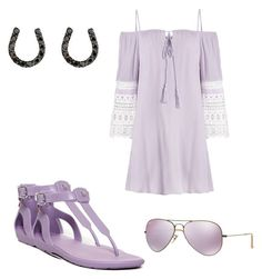 """""""Lavender"""" by julietlove2002 on Polyvore featuring Hunter, Ray-Ban and Ileana Makri"""