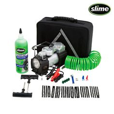 48-Piece Set: Slime PowerSpair Flat Tire Inflate & Repair Kit with Case at 47% Savings off Retail!