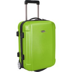 Traveler's Choice Freedom 21 In. Hardshell Wheeled Carry-On Suitcase ($55) ❤ liked on Polyvore featuring bags, luggage, green and hardside luggage