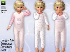 Leopard Cub Sleepwear by Minicart  http://www.thesimsresource.com/downloads/1179126
